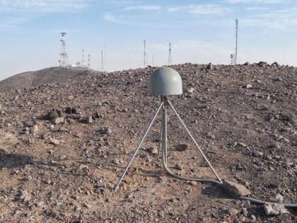 GPS científico instalado en Chile (Fotografía: CSN)