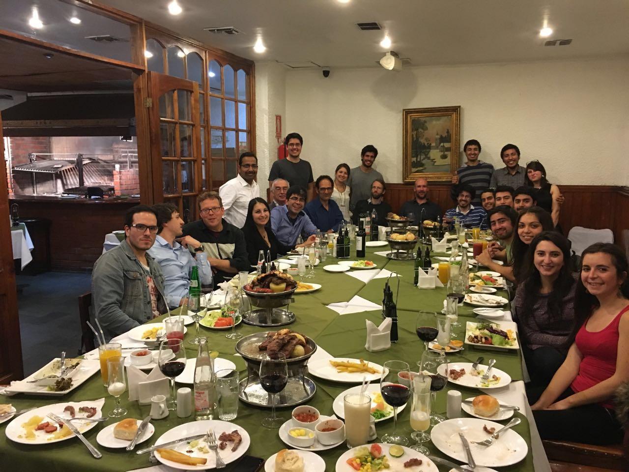 Cena de camaradería del evento